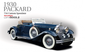 This beautiful tribute with chassis number 184029 and engine number 184015 is appropriate to the original 1930 Packard 734 series. This car is superbly presented and while it has many features correct to an original speedster it is not one of the 113 originals but is a nice tribute. The narrow Speedster body is blue with a light blue accent complemented by dark leather upholstery and a beige top. Chrome wire wheels carry white wall tires with dual side mount spares with mirrors and beige cloth covers, Pilot Ray driving light and a radiator stone guard. Restored to AACA National First Prize standards. A gorgeous and fast Packard motorcar.