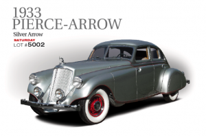 The Silver Arrow caused a sensation when it was unveiled at the New York Auto show in January 1933. It was the most daring and radical automobile of its day, giving an unnerving glimpse into the future. The $10,000.00 price tag was humbling as well. The top speed of 115 mph was unbelievable for a car of such size and stature. Only five were built. This car is one of three that survived. Previously part of the Harrah's Auto Collection from the early 1960s until 1987. It was restored by the world famous Harrah's facility.