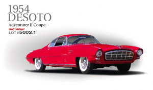 One of the most spectacular Ghia designs was the DeSoto Adventurer II, a derivative of the Savonuzzi Supersonic Series, somewhat reworked by Virgil Exner. Extremely long for a two-seater, its form is at once elegant and refined yet boldly spectacular. An innovative feature that seems never to have been replicated was the sliding-into-the-trunk backlight, opening up the roof behind the seats, giving a draft-free open area and many of the advantages of a convertible with none of the inconveniences. A close look at the DeSoto will show just how fastidious and perfection-minded Ghia designers, managers and workmen were.