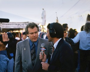 Barrett-Jackson Chairman and CEO Craig Jackson on the air at the Scottsdale auction in 1997.
