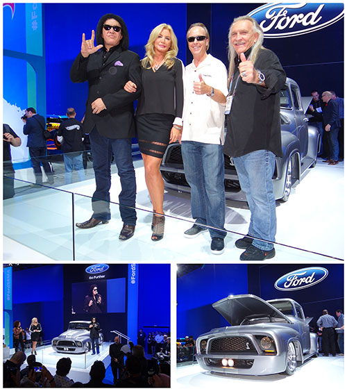 SEMA 2013, GENE SIMMONS, SHANNON TWEED, FORD F-100