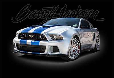 """NEED FOR SPEED"" MUSTANG AND FIRST PRODUCTION 2015 CORVETTE Z06 SET TO CROSS THE BLOCK AT BARRETT-JACKSON'S 12TH ANNUAL PALM BEACH AUCTION"