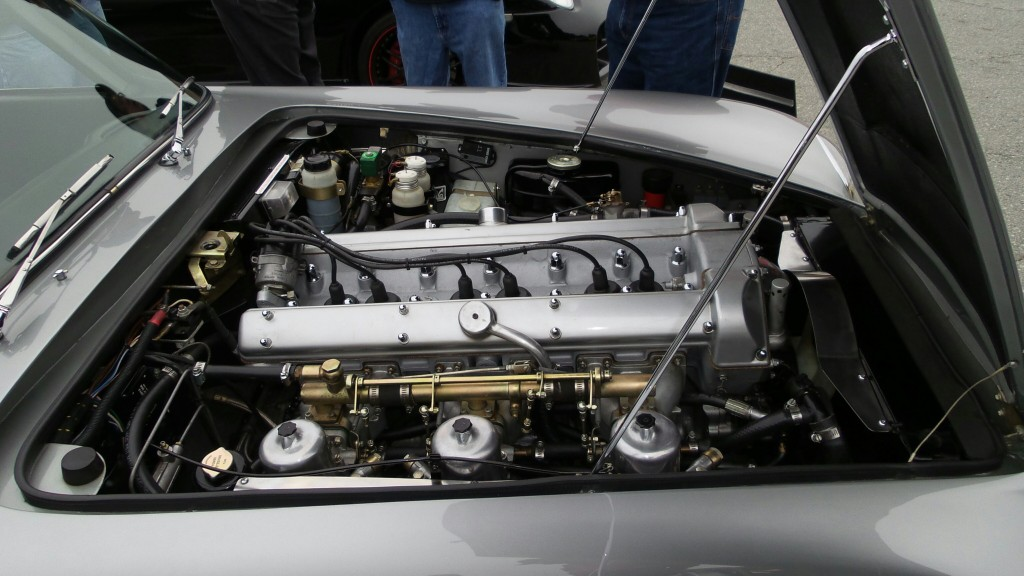 As with the rest of the car, the engine bay in this Aston Martin DB5 is concours restored.
