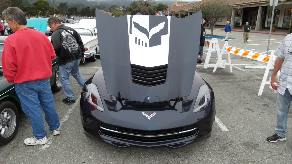 Check out the skull graphic on this brand new C7 Corvette.