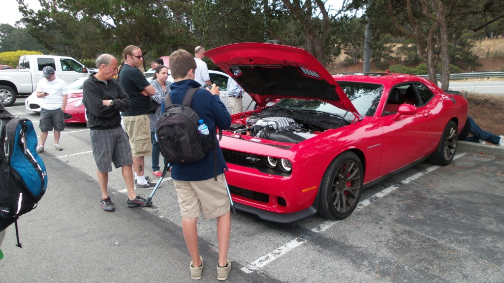 This pre-production SRT Challenger Hellcat was a crowd favorite.