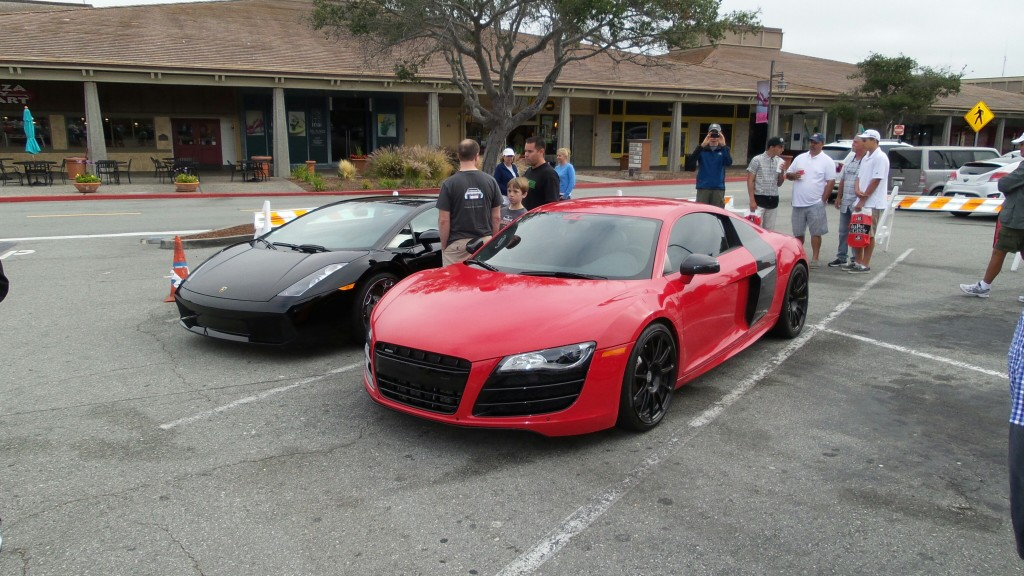 Supercars are always welcome at Cars and Coffee events. These two mid-engined beauties sound amazing.