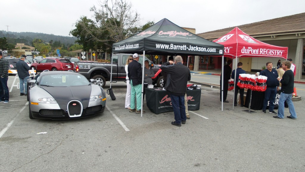 DuPont Registry and Barrett-Jackson presented goodie bags to all Cars and Coffee participants. Craig Jackson showcased his 1001 HP Veyron.