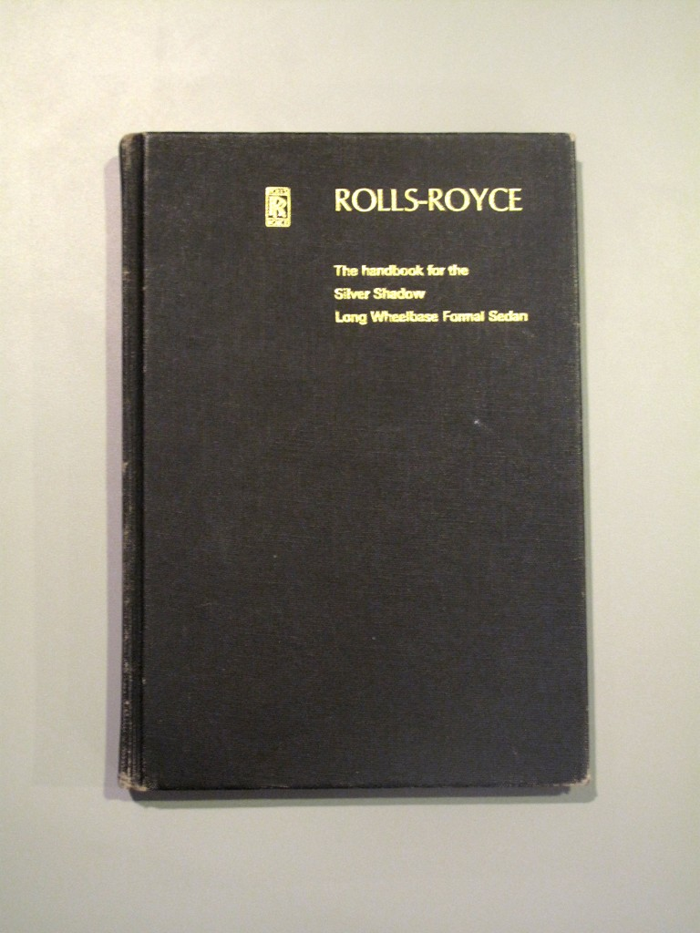 The original Rolls-Royce owner's manual is part of the provenance included with the Man In Black's Silver Shadow.