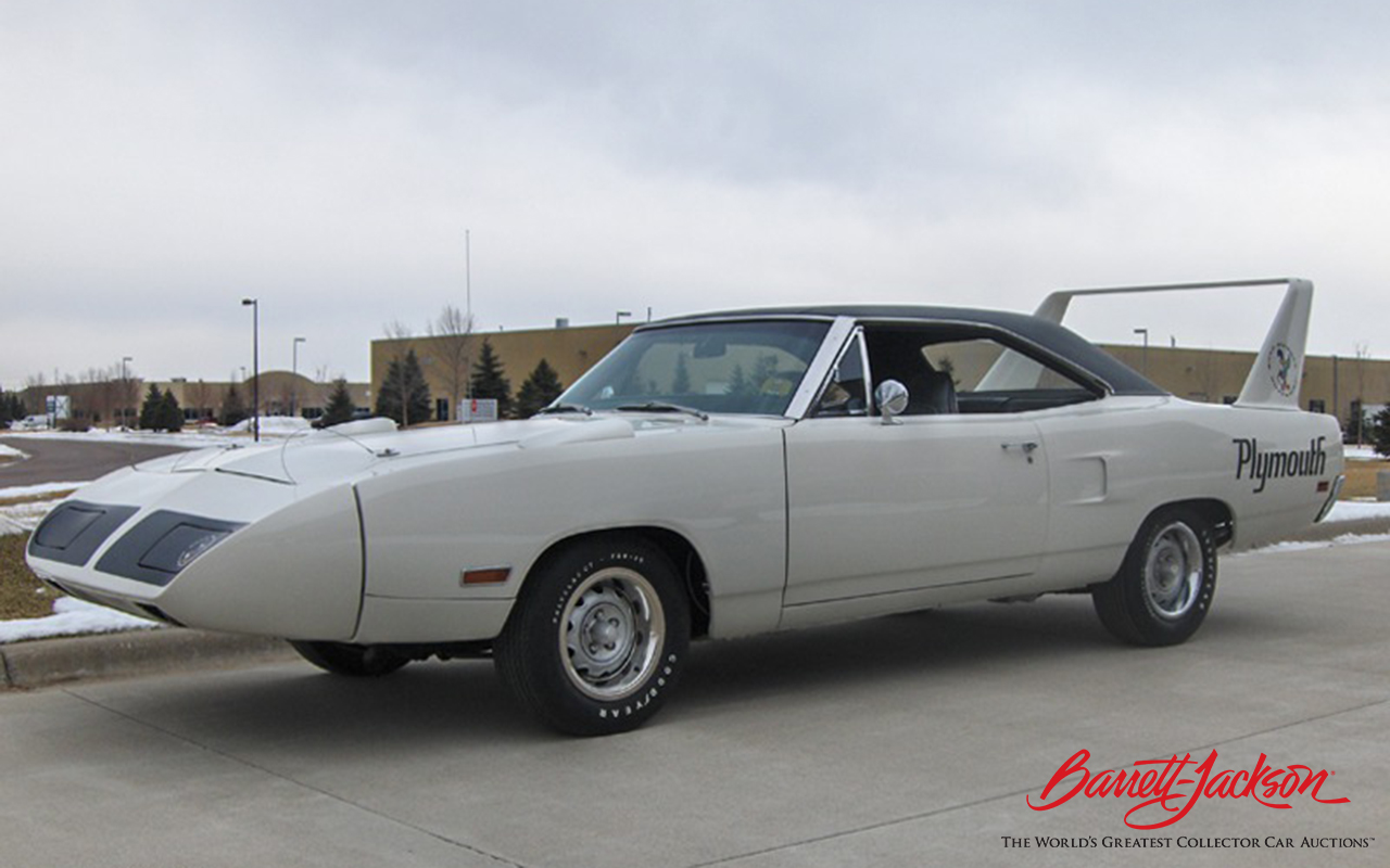 One of only 58 HEMI-powered 4-speed Superbirds, this 1970 Plymouth HEMI Superbird is one of many great muscle cars set to roll across the Barrett-Jackson auction block this January.