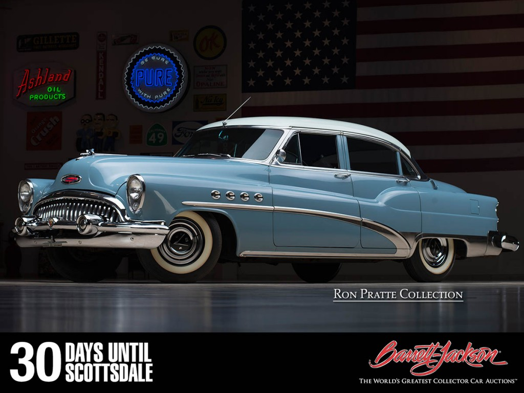 This 1953 Buick Roadmaster is one of more than 140 vehicles from the Ron Pratte Collection crossing the block at the Barrett-Jackson Scottsdale Auction in January.