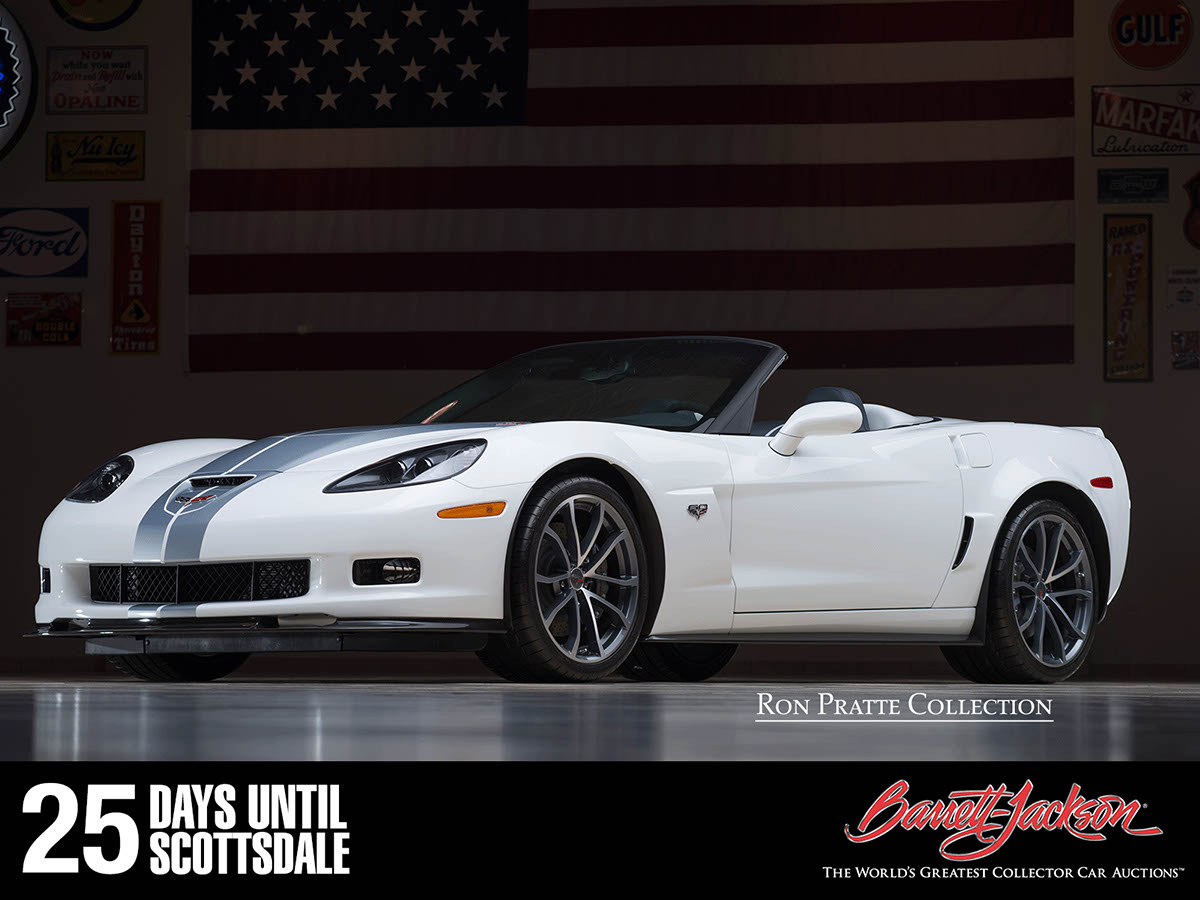 This 2013 Chevrolet Corvette Convertible VIN #0001 is one of more than 140 vehicles from the Ron Pratte Collection crossing the block at the Barrett-Jackson Scottsdale Auction in January.