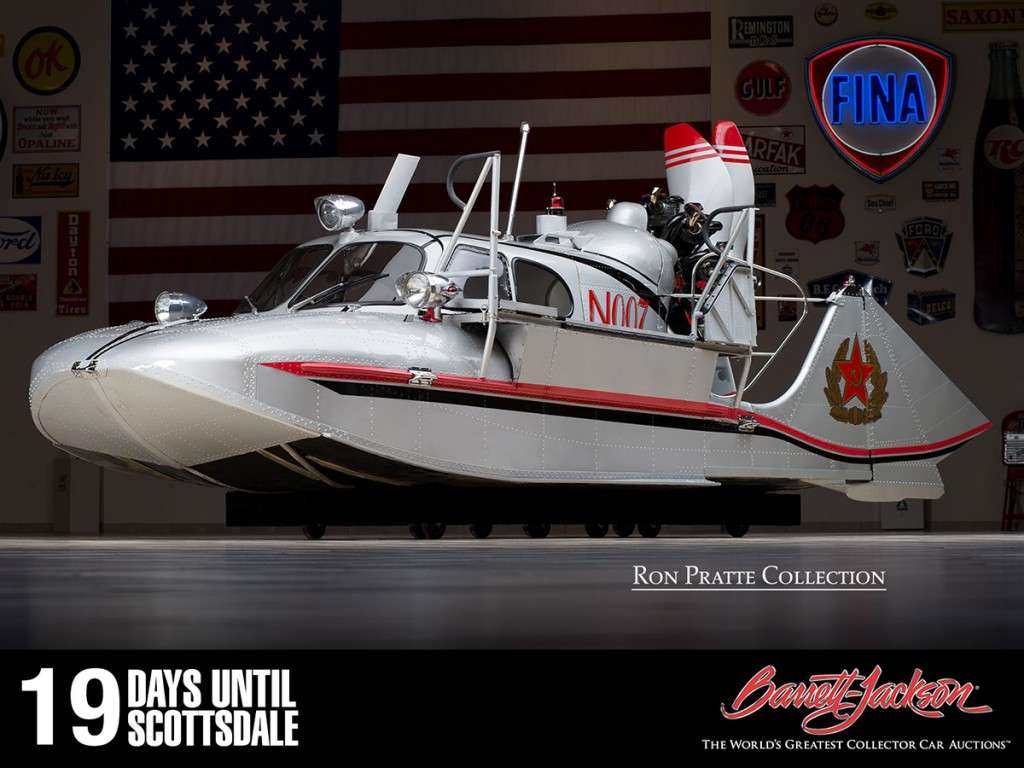 This 1978 Tupolev N007 Gullwing Boat is one of more than 140 vehicles from the Ron Pratte Collection crossing the block at the Barrett-Jackson Scottsdale Auction in January.