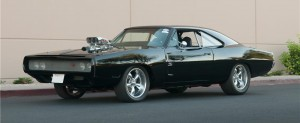 "The 1969 Dodge Charger Custom from the ""Fast & Furious"" movie series."